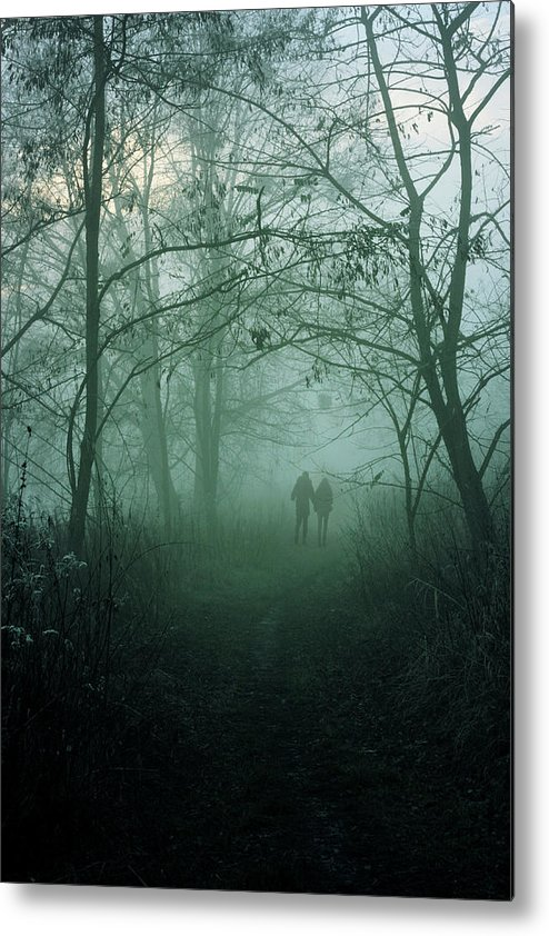 Dark Metal Print featuring the photograph Dark Paths by Cambion Art