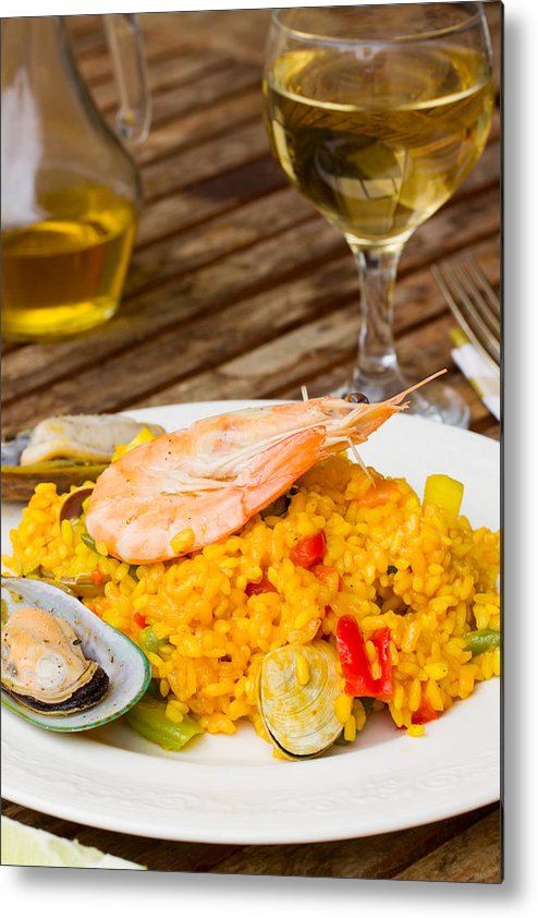 Paella Metal Print featuring the photograph Dining With Paella by Anastasy Yarmolovich