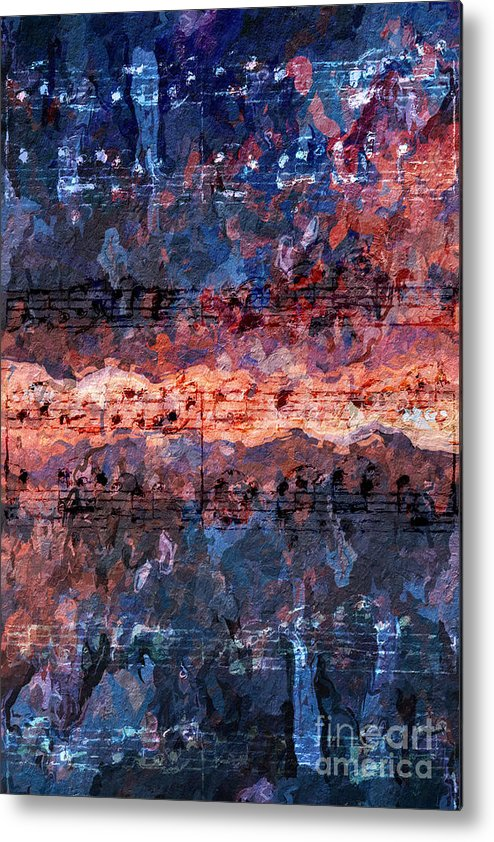 Music Metal Print featuring the digital art Divisi 2 by Lon Chaffin