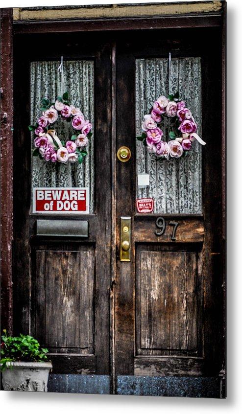 Old Metal Print featuring the photograph Door #97 by Terepka Dariusz