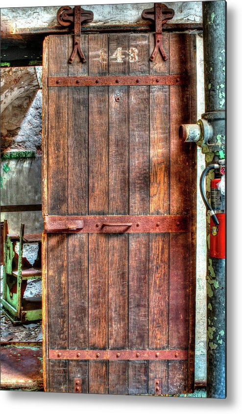 Eastern State Penitentiary Metal Print featuring the photograph Door To Darkness by Joe Goodrich