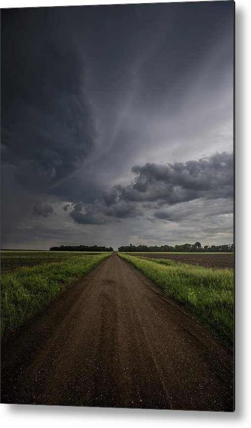 Gravel Road Metal Print featuring the photograph Down A Little Dirt Road by Aaron J Groen