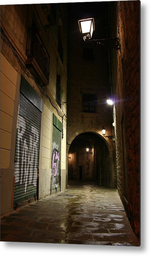 Barcelona Metal Print featuring the photograph Down The Path by Jason Hochman