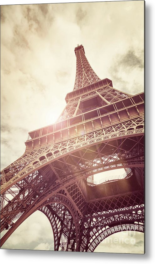 Eiffel Metal Print featuring the photograph Eiffel Tower In Sunlight by Jane Rix