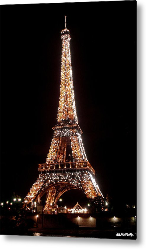 Eiffel Tower Metal Print featuring the photograph Eiffel Tower Sparkling by Al Blackford