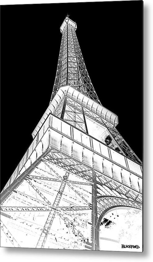 Eiffel Tower Metal Print featuring the photograph Eiffel Up Inverted by Al Blackford