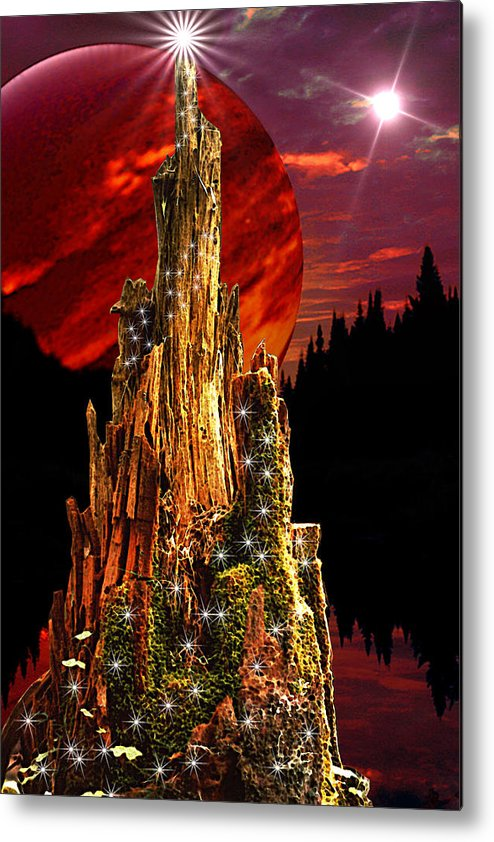 Fantasy Metal Print featuring the digital art Elfen Conclave by Roger Soule