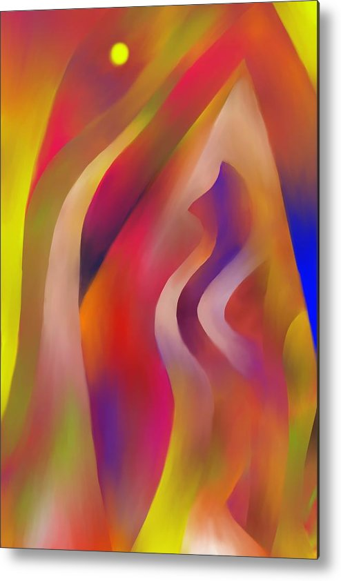 Colorful Metal Print featuring the digital art Evening Sunset by Peter Shor