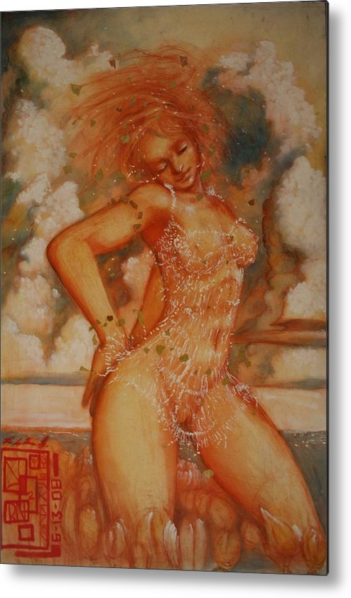 Ecstacy Ralph Nixon Jr Metal Print featuring the painting Exstacy by Ralph Nixon Jr