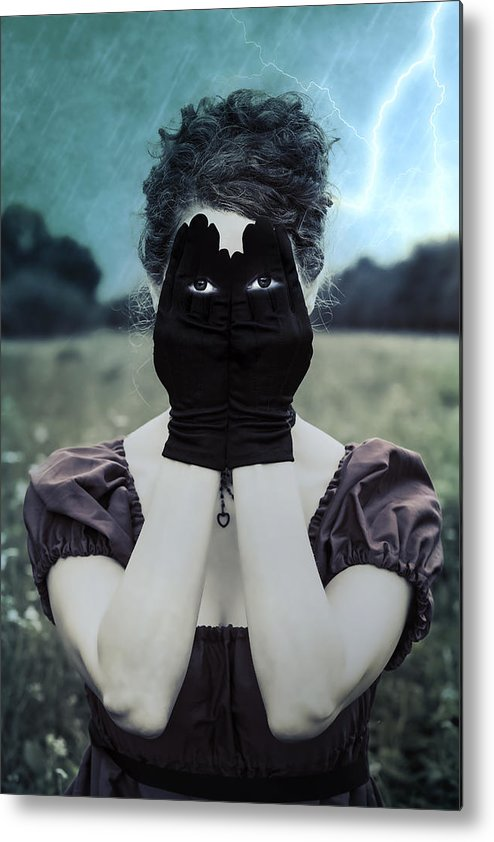 Female Metal Print featuring the photograph Eyes by Joana Kruse
