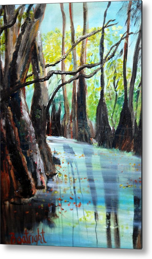 South Georgia Metal Print featuring the painting Falling Leaves by Diane Fiore