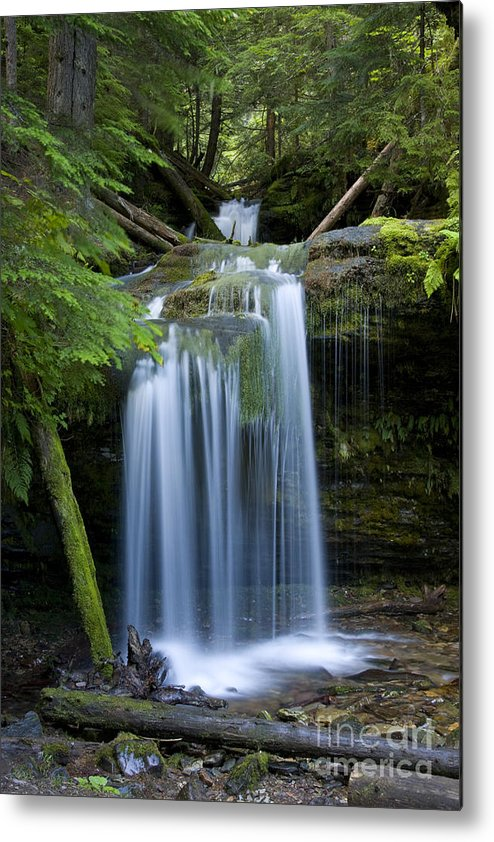 Waterfalls Metal Print featuring the photograph Fern Falls by Idaho Scenic Images Linda Lantzy