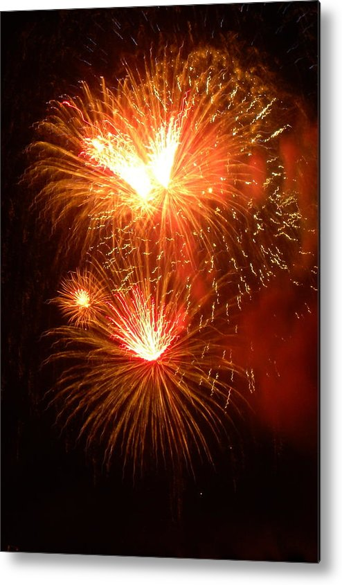 Fireworks Metal Print featuring the photograph Fireworks-3 by Janet Dickinson