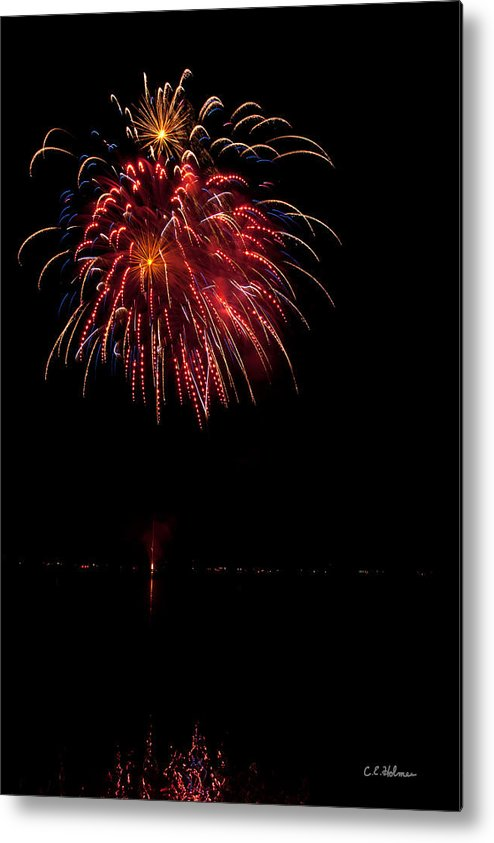 Fireworks Metal Print featuring the photograph Fireworks II by Christopher Holmes