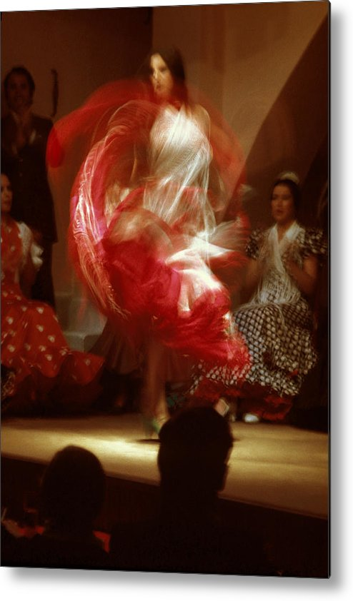 Spain Metal Print featuring the photograph Flamenco Dancer In Seville by Carl Purcell