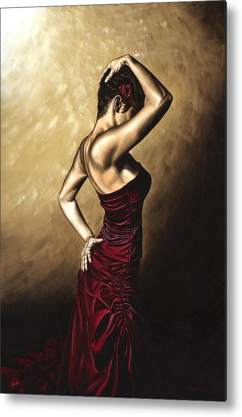 Flamenco Metal Print featuring the painting Flamenco Woman by Richard Young
