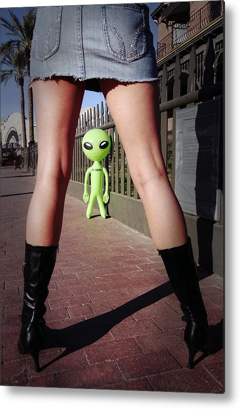 Alien Metal Print featuring the photograph For Alien Eyes Only by Richard Henne