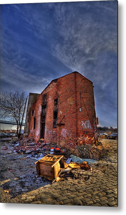 Abandoned Metal Print featuring the photograph Forsaken Luxury by Evelina Kremsdorf