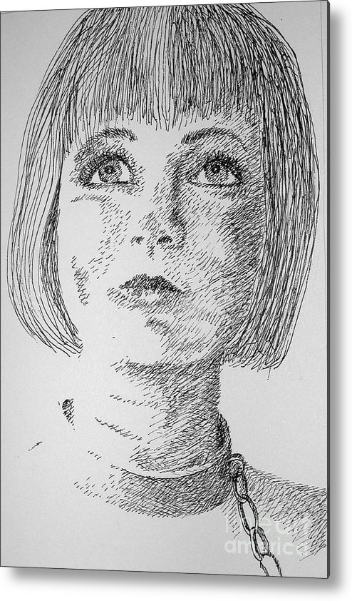 Philosophical Thoughts Metal Print featuring the drawing Free Will by Tanni Koens