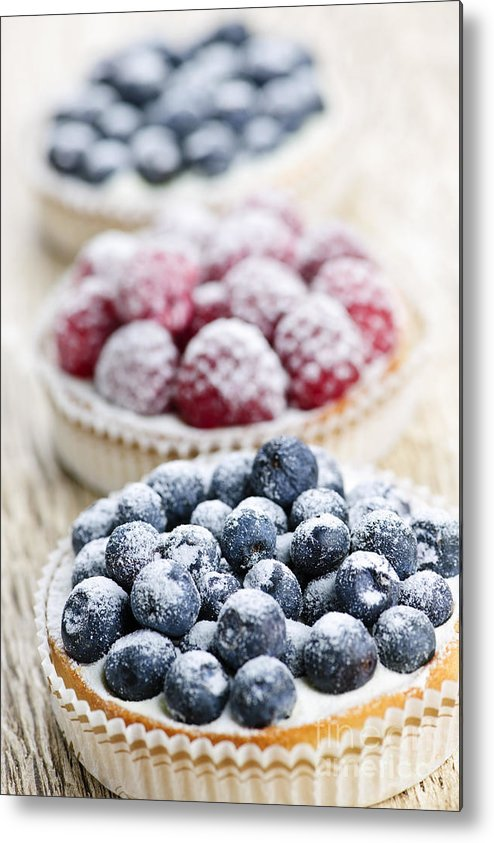 Fruit Metal Print featuring the photograph Fresh Berry Tarts by Elena Elisseeva