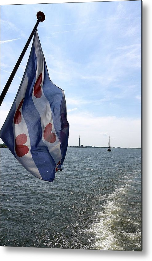Friesche Vlag Metal Print featuring the photograph Friesche Vlag by Johan Van der knokke