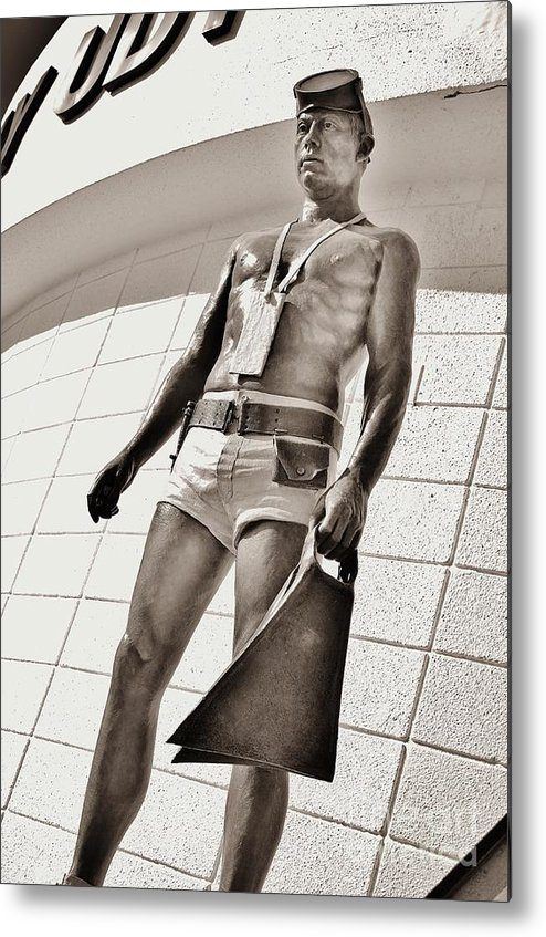 Frogman Metal Print featuring the photograph Frogman Statue by Lynda Dawson-Youngclaus
