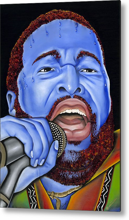 Portrait Metal Print featuring the painting G. Levert by Nannette Harris