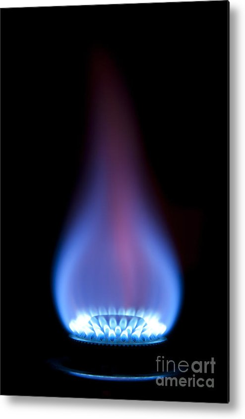 Gas Metal Print featuring the photograph Gas Flame by Andy Smy