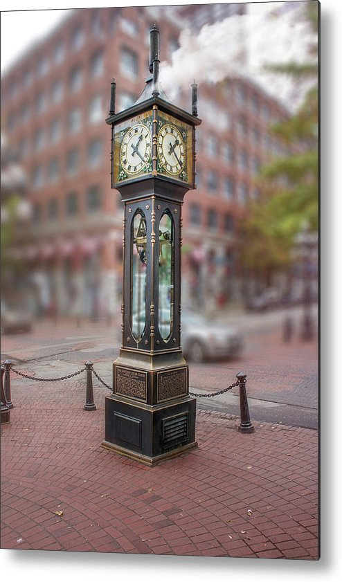 Steam Clock Metal Print featuring the photograph Gastown Steam Clock by Art Spectrum
