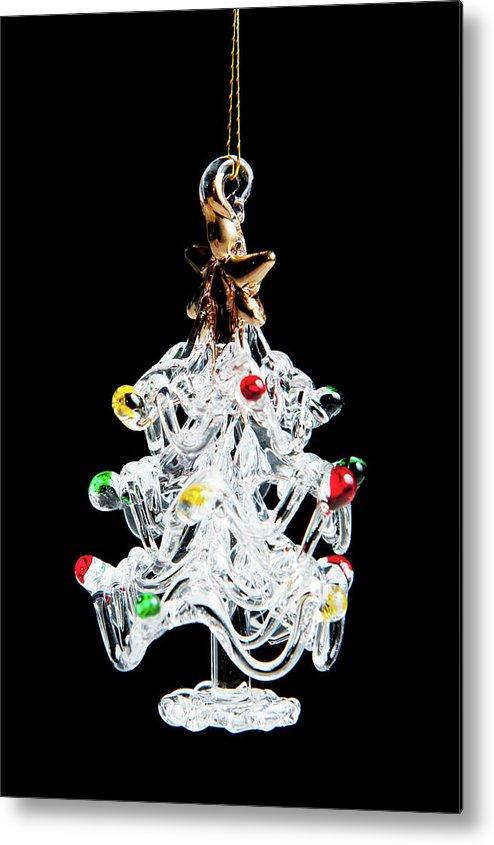 Helen Northcott Metal Print featuring the photograph Glass Tree Decoration by Helen Northcott