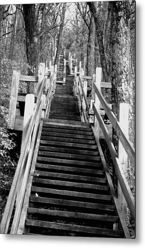 Stairs Metal Print featuring the photograph Going Up by Jamie Lynn