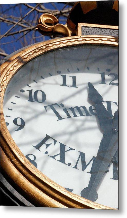 Clock Metal Print featuring the photograph Gold Clock by Samantha Kimble