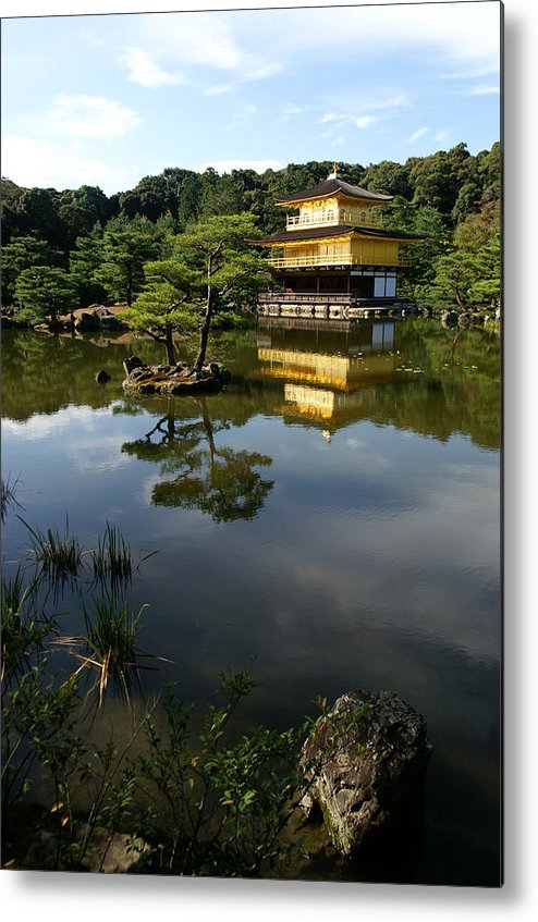 Golden Pavilion Metal Print featuring the photograph Golden Pavilion In Kyoto by Jessica Rose