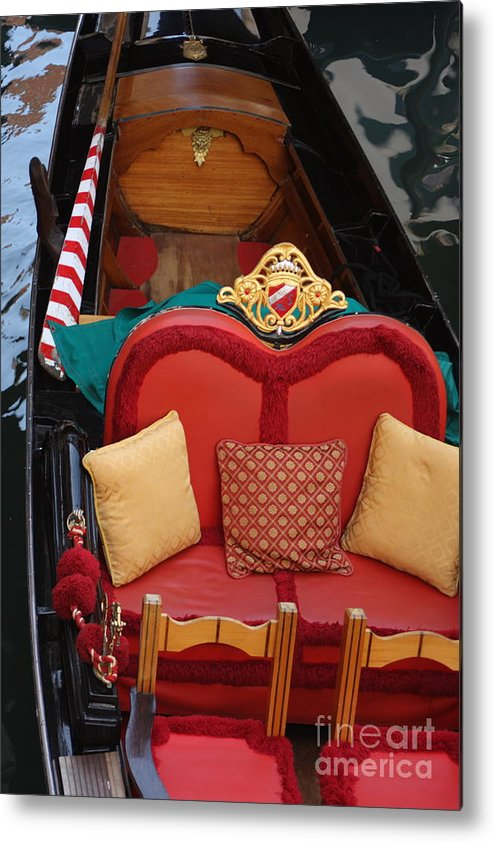 Venice Metal Print featuring the photograph Gondola Interior In Venice by Michael Henderson