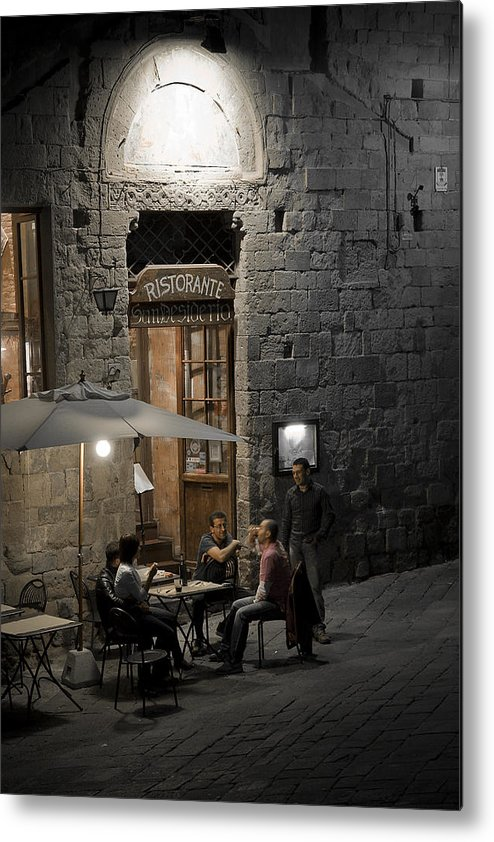 City Metal Print featuring the photograph Good Food - Good Company by Carl Jackson