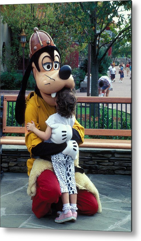 Disney Metal Print featuring the photograph Goofy Love by Carl Purcell