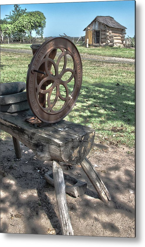 Texas Heritage Metal Print featuring the photograph Grinder by James Woody