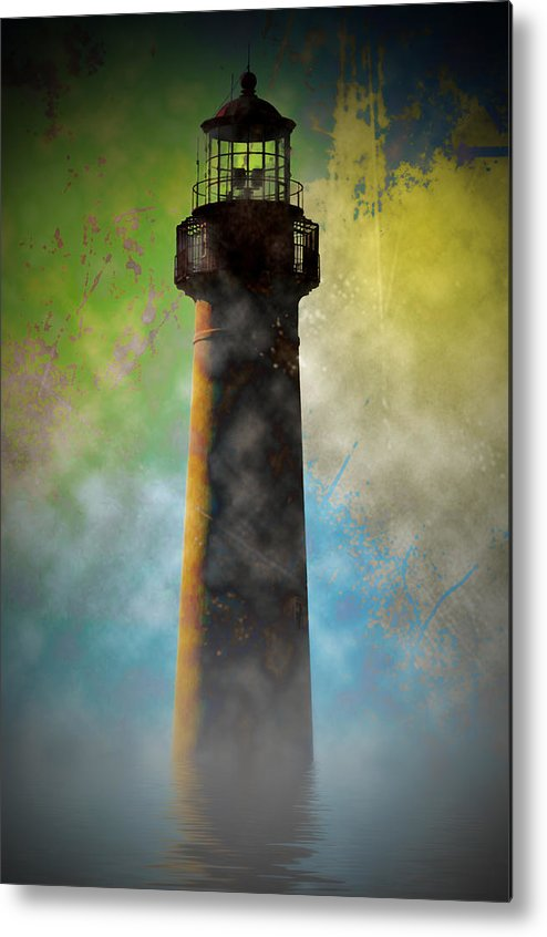 Grunge Metal Print featuring the photograph Grunge Lighthouse by Bill Cannon