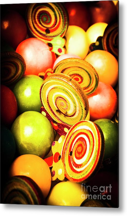 Gumballs Metal Print featuring the photograph Gumdrops And Candy Pops by Jorgo Photography - Wall Art Gallery