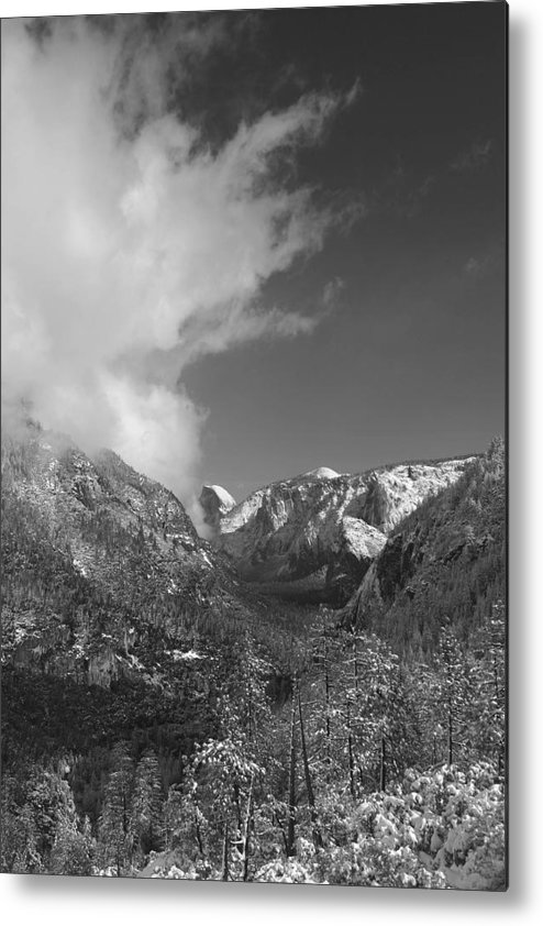 Half Dome Metal Print featuring the photograph Half Dome Winter by Travis Day