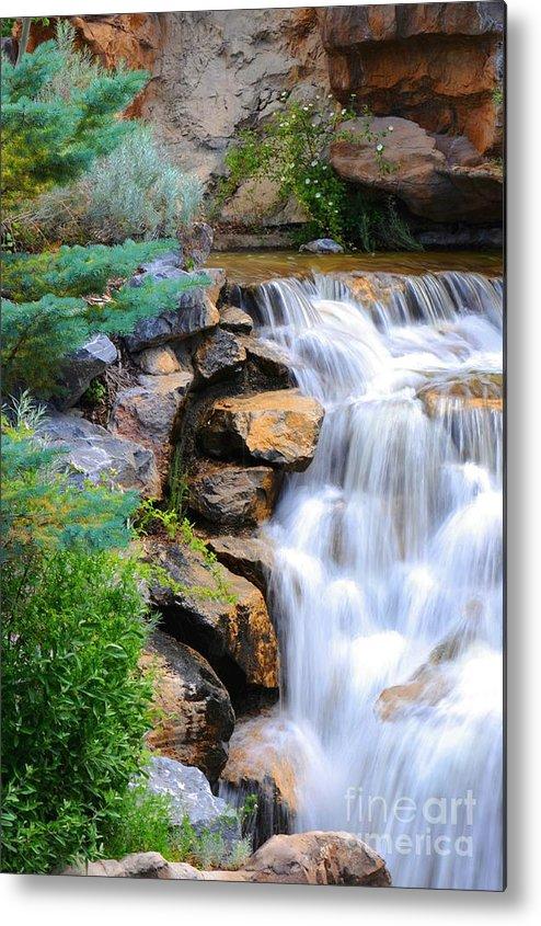 Waterfall Metal Print featuring the photograph Hammer's Cascade by Dennis Hammer