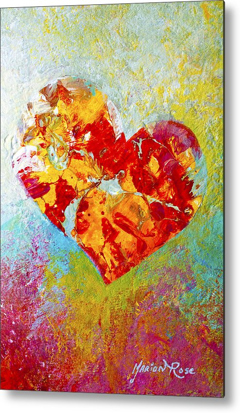 Heartfealt Metal Print featuring the painting Heartfelt I by Marion Rose