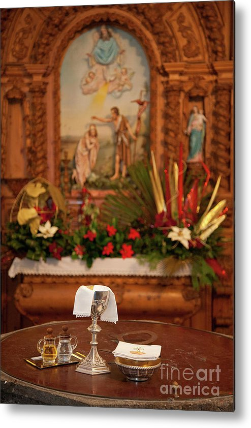 Chalice Metal Print featuring the photograph Holy Communion by Gaspar Avila