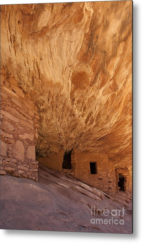 Southwest Metal Print featuring the photograph House On Fire-indian Ruin by Sandra Bronstein