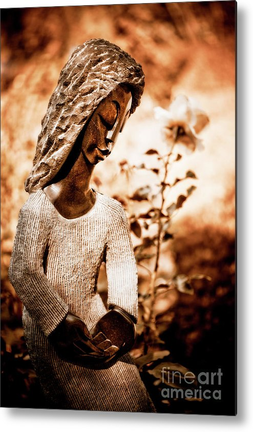 Art Metal Print featuring the photograph Humble Woman by Venetta Archer