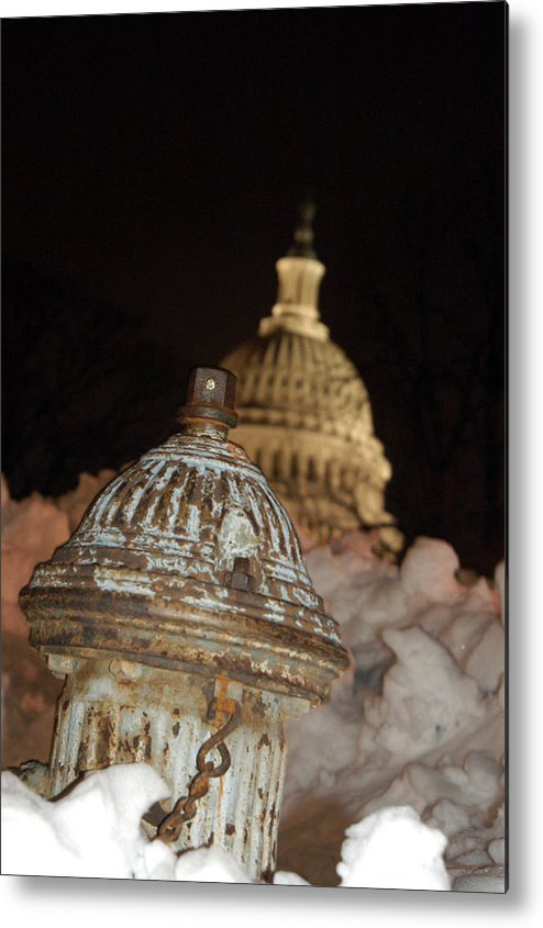 Washington Dc Metal Print featuring the photograph Hydrant Capitol Washington Dc by Thomas Michael Corcoran
