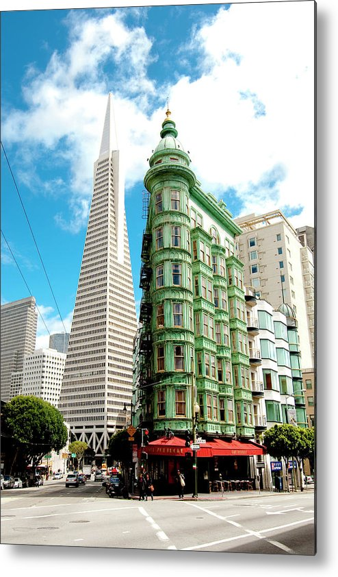 City Metal Print featuring the photograph Icons Of San Fran by Greg Fortier