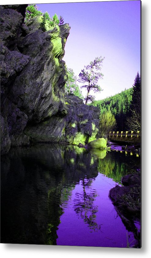 Mountains Metal Print featuring the photograph Ideal Manipulated by Cassandra Wessels