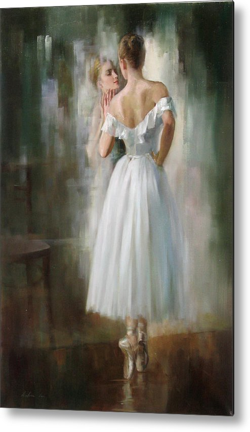 Figurative Metal Print featuring the painting Image by Kelvin Lei