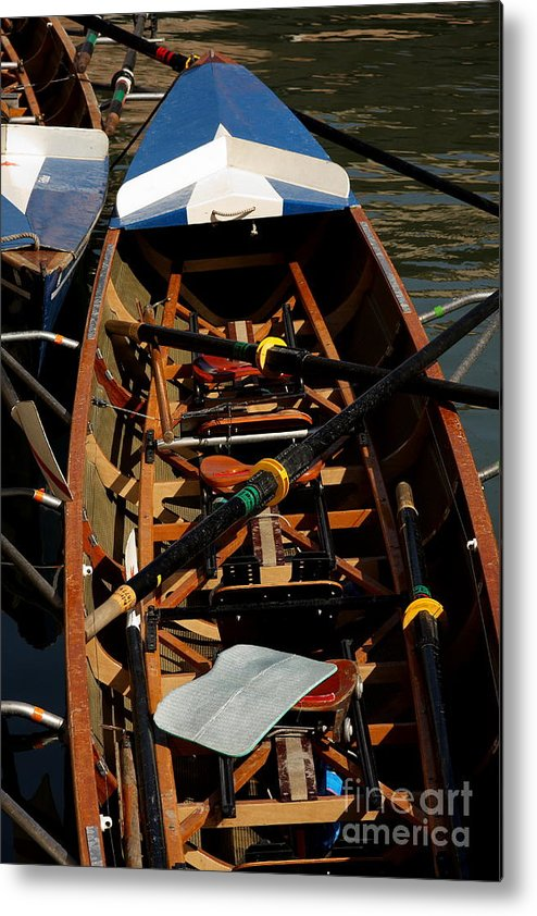 Boat Metal Print featuring the relief Inside Sail Boat by Michael Henderson
